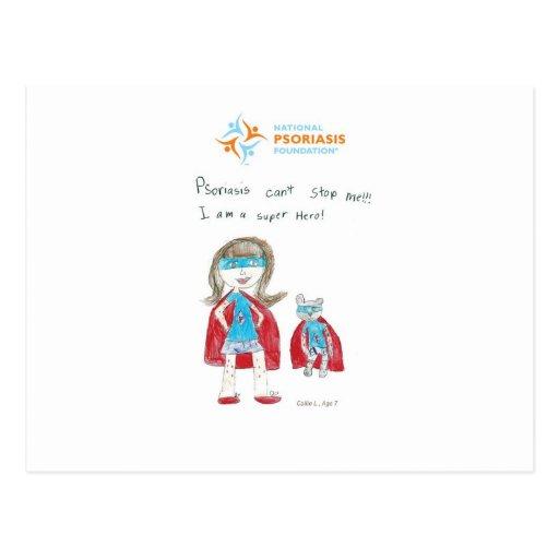 """""""Psoriasis can't stop me"""" Postcards"""