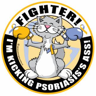 Psoriasis Cat Fighter Cutout