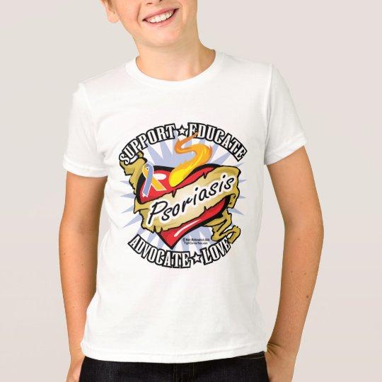 Psoriasis Classic Heart T-Shirt