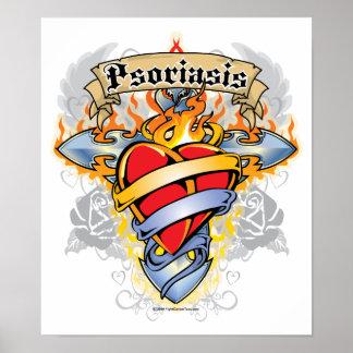 Psoriasis Cross & Heart Print