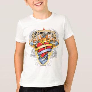 Psoriasis Cross & Heart T-Shirt