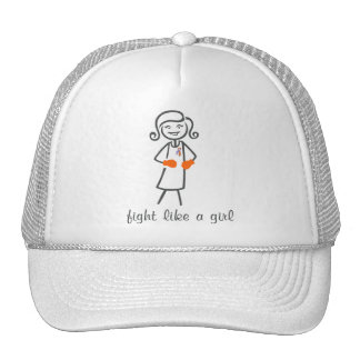 Psoriasis Fight Like A Girl (Retro) Trucker Hat