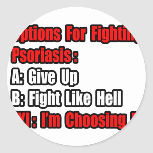 Psoriasis Fighting Options Stickers