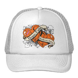 Psoriasis Hope Faith Dual Hearts Trucker Hat