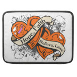 Psoriasis Hope Faith Dual Hearts Sleeves For MacBook Pro