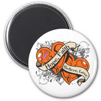 Psoriasis Hope Faith Dual Hearts 2 Inch Round Magnet