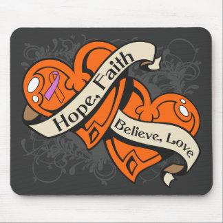 Psoriasis Hope Faith Dual Hearts Mouse Pad