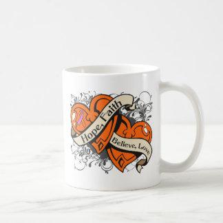 Psoriasis Hope Faith Dual Hearts Classic White Coffee Mug