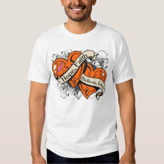 Psoriasis Hope Faith Dual Hearts Shirts