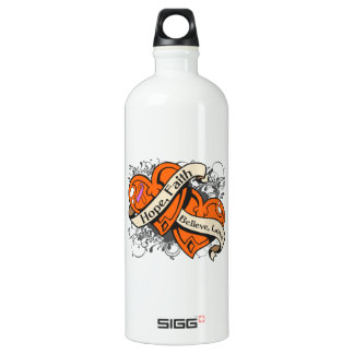 Psoriasis Hope Faith Dual Hearts SIGG Traveler 1.0L Water Bottle