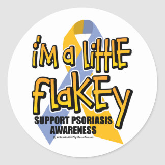 Psoriasis: I'm A Little Flakey Classic Round Sticker