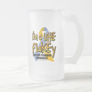 Psoriasis: I'm A Little Flakey Frosted Glass Beer Mug
