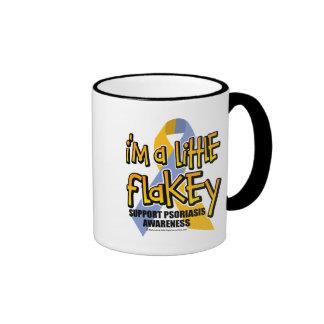 Psoriasis: I'm A Little Flakey Ringer Mug