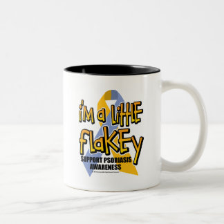 Psoriasis: I'm A Little Flakey Two-Tone Coffee Mug