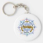 Psoriasis Lotus Keychains