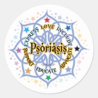 Psoriasis Lotus Pegatina Redonda