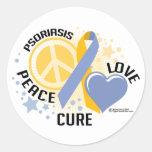 Psoriasis PLC 2 Classic Round Sticker