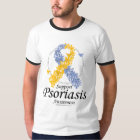 Psoriasis Ribbon of Butterflies T-Shirt