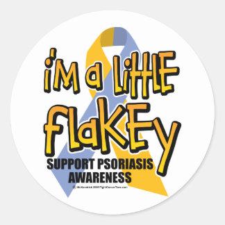 Psoriasis: Soy un poco Flakey Pegatina Redonda