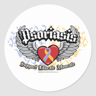 Psoriasis Wings Classic Round Sticker