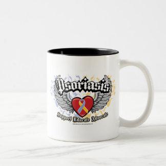 Psoriasis Wings Two-Tone Coffee Mug