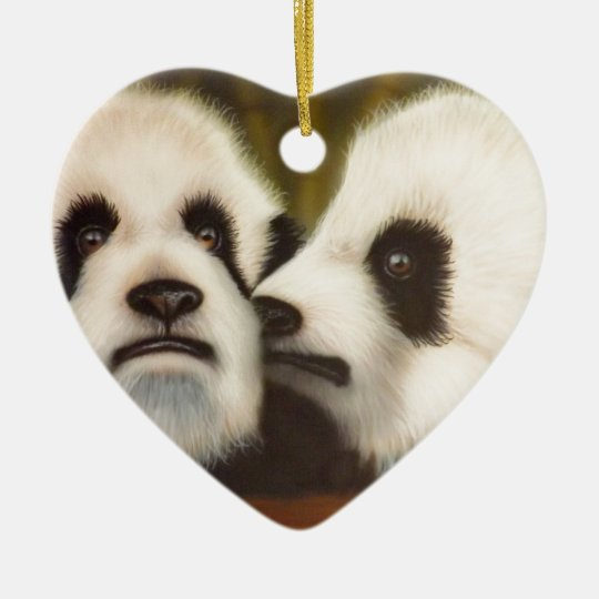 PSSST (Baby Pandas).jpg Ceramic Ornament