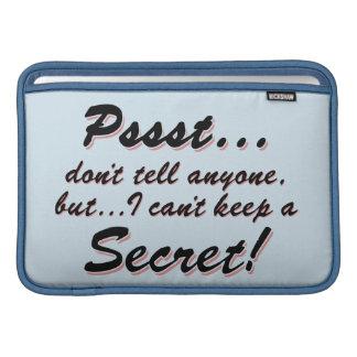 Pssst...I can't keep a SECRET (blk) MacBook Air Sleeve