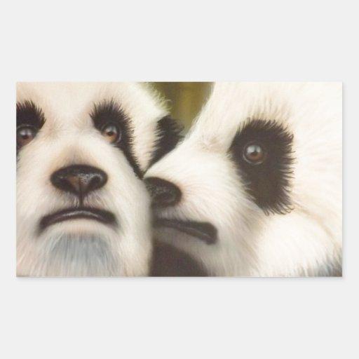 PSSST (pandas del bebé) .jpg Rectangular Pegatina