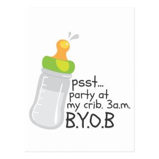 PSST Party at My Crib. 3am. BYOB Postcard