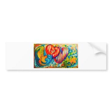 Beach Themed PSX_20161212_love sign Bumper Sticker