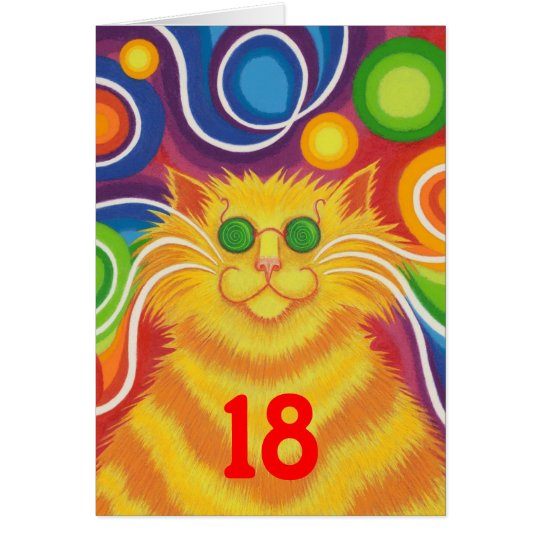 Psy-cat-delic 'Age' 'groovy birthday' card