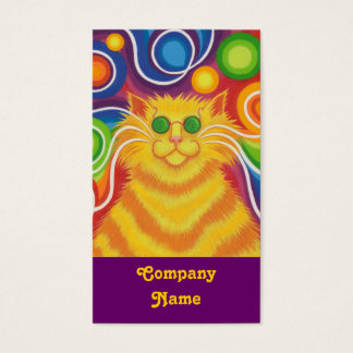 Psy-cat-delic business card portrait purple