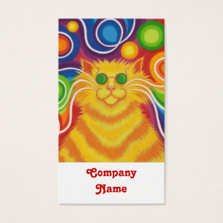 Psy-cat-delic business card portrait white back