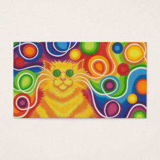 Psy-cat-delic business card red back