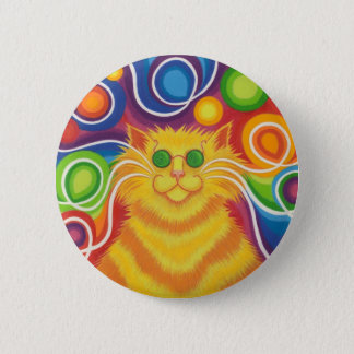 Psy-cat-delic button badge