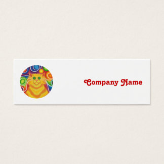 Psy-cat-delic 'company name' skinny white mini business card