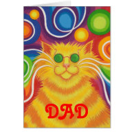 Psy-cat-delic 'Dad' father's day card