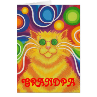 Psy-cat-delic 'Grandpa' birthday card