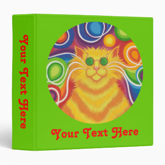 Psy-cat-delic green 'Your Text' binder