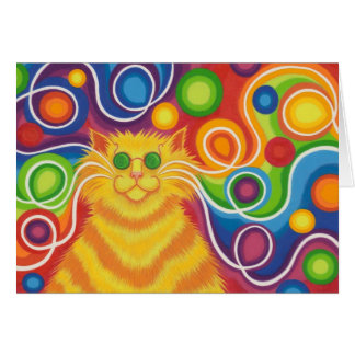 Psy-cat-delic greetings card