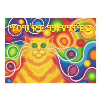 Psy-cat-delic invitation 'You're Invited'