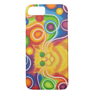 Psy-cat-delic iPhone 7 case horizontal