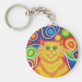 Psy-cat-delic keychain