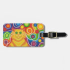 Psy-cat-delic luggage tag 2 sides