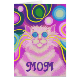 Psy-cat-delic 'MOM' 'groovy birthday' card
