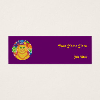 Psy-cat-delic 'name' business card skinny purple