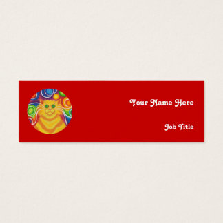 Psy-cat-delic 'name' business card skinny red