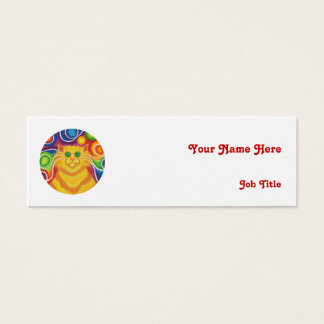 Psy-cat-delic 'name' business card skinny white