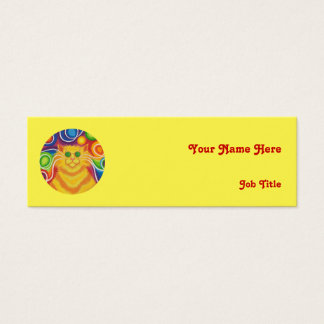 Psy-cat-delic 'name' business card skinny yellow