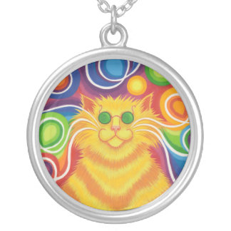 Psy-cat-delic necklace round